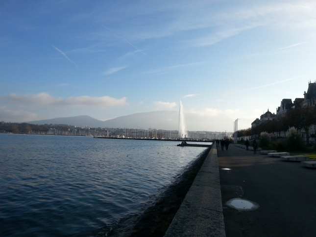 Leman lake, Geneva